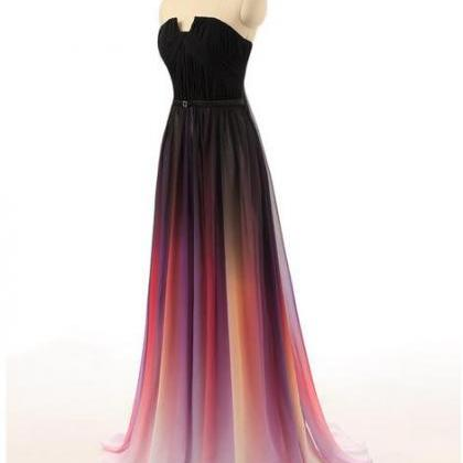 Gradient Ombre Dresses Bridesmaid D..