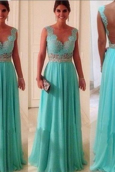 Light Blue Prom dresses , Beaded Evening Dresses , Piping Prom Dress , Pleats Prom Dresses , Prom Dress Long Cheap , Prom Dress 2016 , Formal Dresses Appliques, Lace Prom Dress , Prom Dress Fashion,Backless Evening Dresses