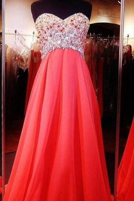 Beaded Sweetheart Prom dresses , Shinning Evening Dresses ,Sheath Prom Dress , Backless Prom Dresses , Prom Dress Long Cheap , Prom Dress 2017 , Formal Dresses Piping, Sweep Train Prom Dress , Prom Dress Fashion,Crystal ,