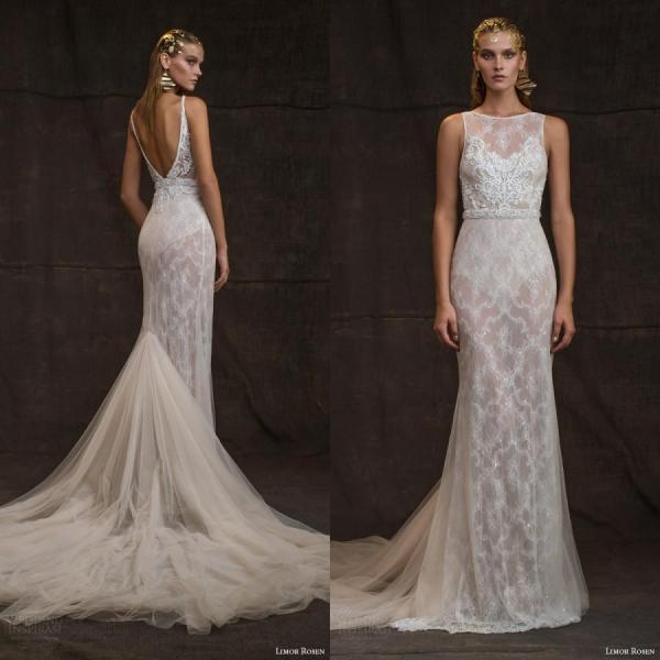 2016 Detachable Mermiad Wedding Dresses Backless Beaded Sequins Sash Crystal Sheer Neck Fashion Sexy Wedding Dress Vestidos Bridal Gowns