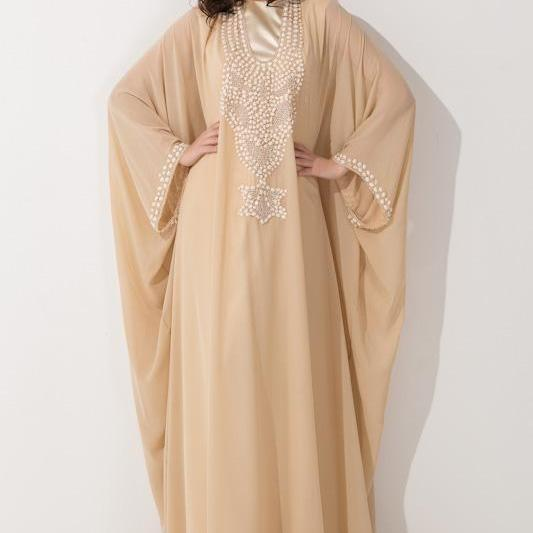 muslim evening dress,muslim prom dress,long dress, Arabic Dubai,long sleeve,chiffon dress,evening dresses 24,elegant dress